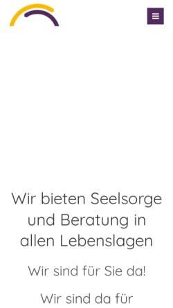 Vorschau der mobilen Webseite www.telefonseelsorge-aachen.de, TelefonSeelsorge Aachen-Eifel
