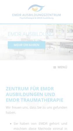 Vorschau der mobilen Webseite emdr-ausbildungszentrum.de, EMDR Ausbildungszentrum