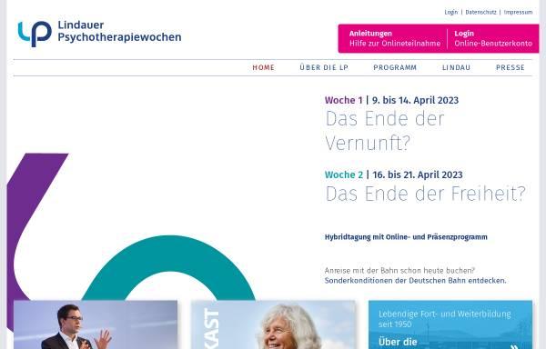 Vorschau von www.lptw.de, Lindauer Psychotherapiewochen - Fortbildung in Psychotherapie