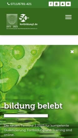 Vorschau der mobilen Webseite www.fortbildung1.de, Fortbildung1