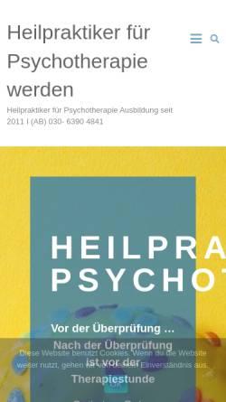 Vorschau der mobilen Webseite www.heilpraktiker-psychotherapie-werden.de, Dr. Dittmer Institut
