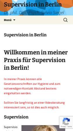 Vorschau der mobilen Webseite gestalttherapie-berlin-siegel.de, Dr. phil. Dipl.-Psych. Sylvia Siegel