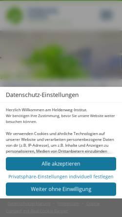 Vorschau der mobilen Webseite www.heldenweg.de, Heldenweg-Institut