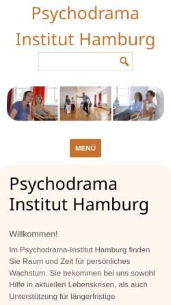 Vorschau der mobilen Webseite www.psychodrama-hamburg.de, Psychodrama Institut Hamburg