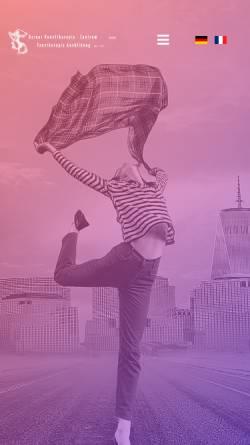 Vorschau der mobilen Webseite www.tanztherapie-zentrum.ch, Berner Zentrum für Aus- und Weiterbildung in Tanztherapie GmbH