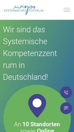 Vorschau der mobilen Webseite www.systemisches-zentrum.de, Systemisches Zentrum Wispo AG