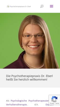 Vorschau der mobilen Webseite www.psychotherapeut-dachau.de, Psychotherapiepraxis Eberl - Dachau