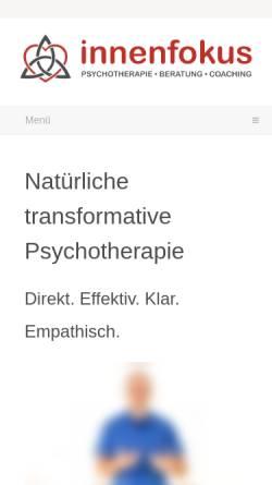 Vorschau der mobilen Webseite innenfokus.de, Praxis Innenfokus