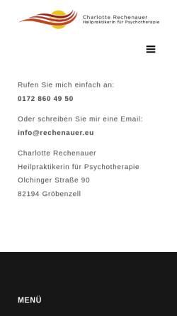 Vorschau der mobilen Webseite www.rechenauer.eu, Charlotte Rechenauer