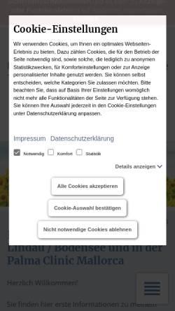 Vorschau der mobilen Webseite therapie-beratung-coaching.de, Praxis für Klang & Psychotherapie