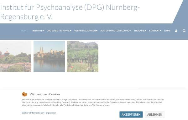 Vorschau von www.psychoanalyseausbildung.de, Institut für Psychoanalyse DPG Nürnberg e.V.