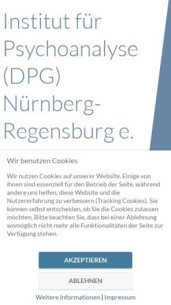 Vorschau der mobilen Webseite www.psychoanalyseausbildung.de, Institut für Psychoanalyse DPG Nürnberg e.V.