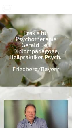 Vorschau der mobilen Webseite therapie-bell-friedberg.de, Gerald Bell - Praxis für Psychotherapie (HPG)