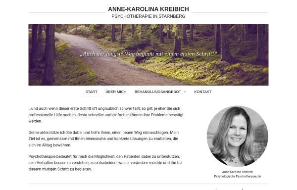 Vorschau von www.psychotherapiestarnberg.de, Dipl.-Psych. Anne-Karolina Kreibich