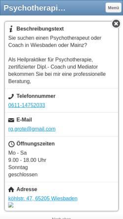Vorschau der mobilen Webseite www.coach-grote.de, Reiner Grote