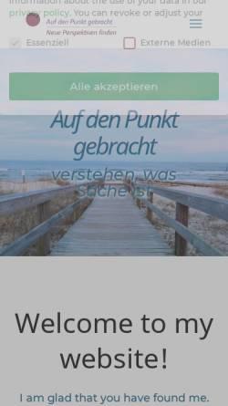Vorschau der mobilen Webseite www.aufdenpunktgebracht-bs.de, Ursula Díaz
