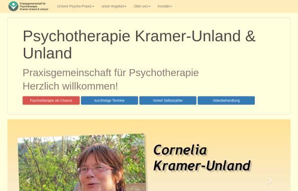 Vorschau von www.psychotherapiepraxis-brilon.de, Praxis Kramer-Unland und Unland
