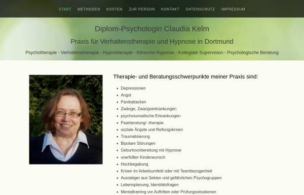 Vorschau von psychologin-in-dortmund.de, Dipl. Psych. Claudia Kelm
