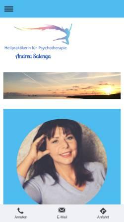 Vorschau der mobilen Webseite www.psychotherapie.salenga.com, Andrea Salenga - Heilpraktikerin (Psychotherapie)