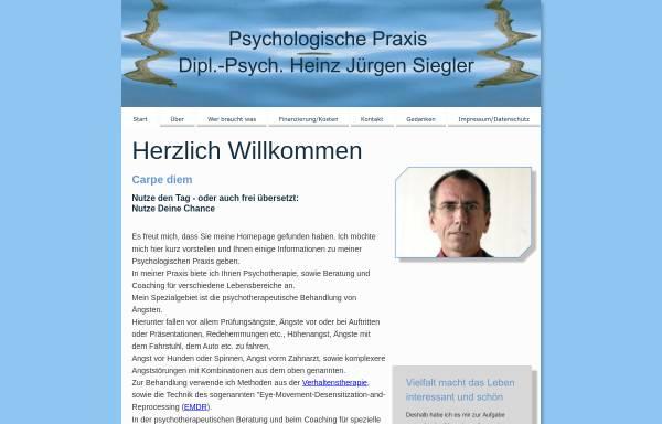 Vorschau von www.h-j-siegler.de, Dipl.-Psych. H. J. Siegler