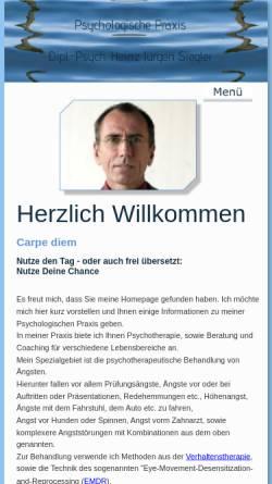 Vorschau der mobilen Webseite www.h-j-siegler.de, Dipl.-Psych. H. J. Siegler