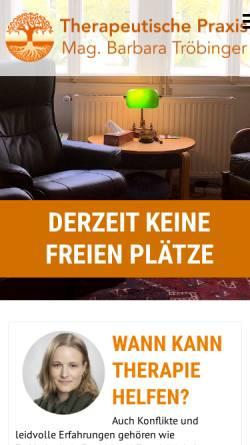 Vorschau der mobilen Webseite www.psychotherapeutin-graz.at, Praxis für Psychotherapie in Graz