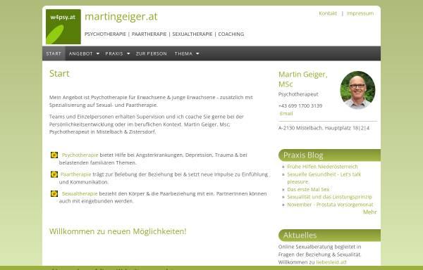 Vorschau von www.w4psy.at, Martin Geiger, MSc