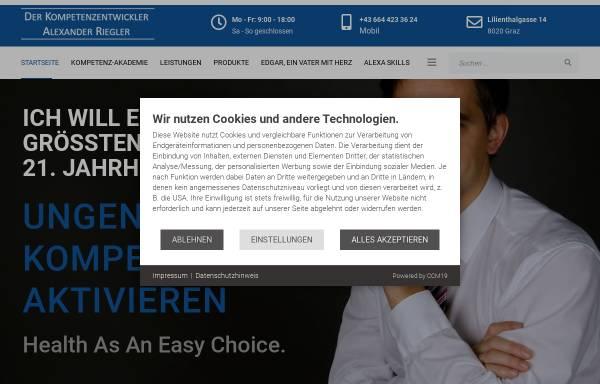 Vorschau von www.alexanderriegler.at, Health Literacy