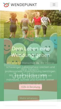 Vorschau der mobilen Webseite www.wendepunkt-ev.net, Wendepunkt e.V.