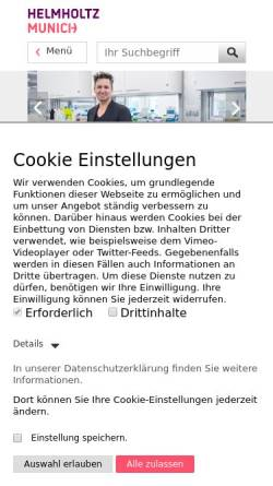 Vorschau der mobilen Webseite www.helmholtz-muenchen.de, Helmholtz Zentrum München