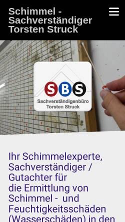 Vorschau der mobilen Webseite www.svb-struck.net, Sachverständigenbüro Torsten Struck
