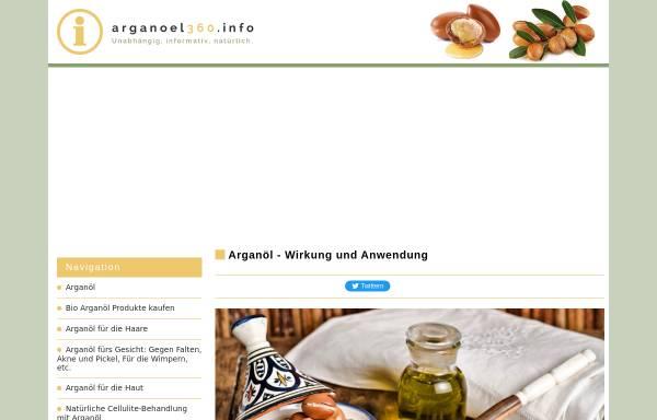 Vorschau von www.arganoel360.info, Arganöl