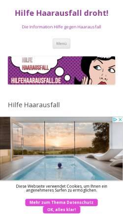 Vorschau der mobilen Webseite hilfehaarausfall.de, Hilfe bei Haarausfall
