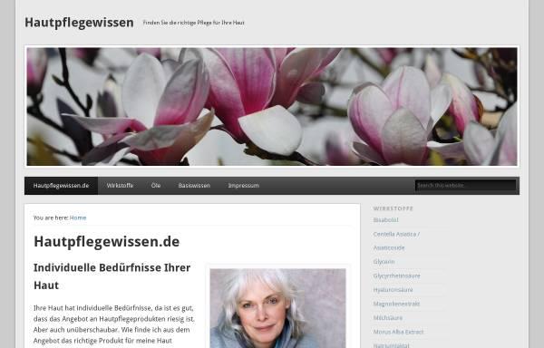 Vorschau von hautpflegewissen.de, Hautpflegewissen