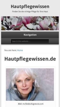 Vorschau der mobilen Webseite hautpflegewissen.de, Hautpflegewissen