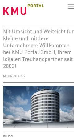 Vorschau der mobilen Webseite www.kmuportal.ch, KMU Portal Schweiz
