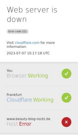 Vorschau der mobilen Webseite www.beauty-blog-rockt.de, Beauty Blog Rockt
