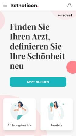 Vorschau der mobilen Webseite www.estheticon.de, Estheticon.de