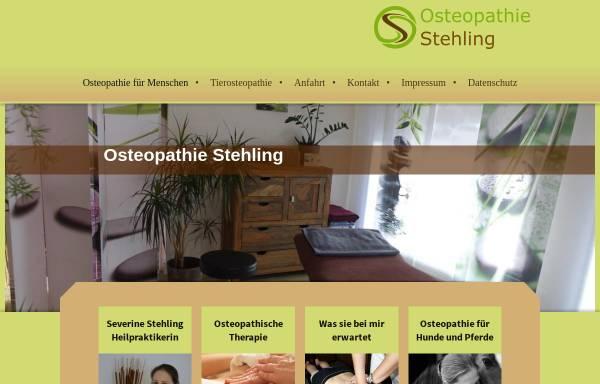 Vorschau von www.osteopathie-stehling.de, Severine Stehling