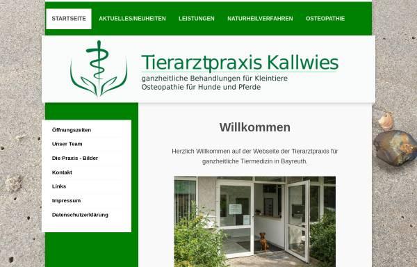 Vorschau von www.tierarztpraxis-bayreuth.de, Tierarztpraxis Kallwies