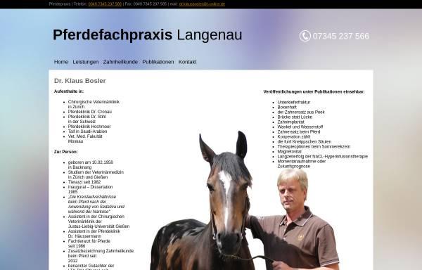 Vorschau von www.pferdepraxisamried.de, Pferdepraxis am Ried - Dr. Klaus Bosler