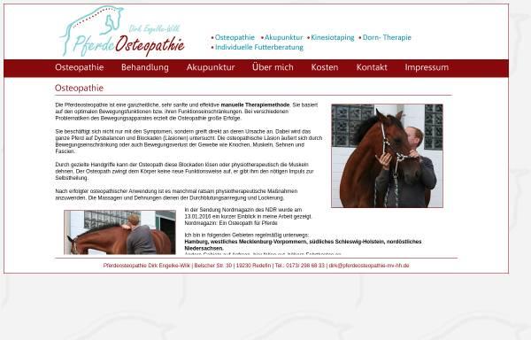 Vorschau von www.pferdeosteopathie-mv-hh.de, Pferdeosteopathie Dirk Engelke-Wilk