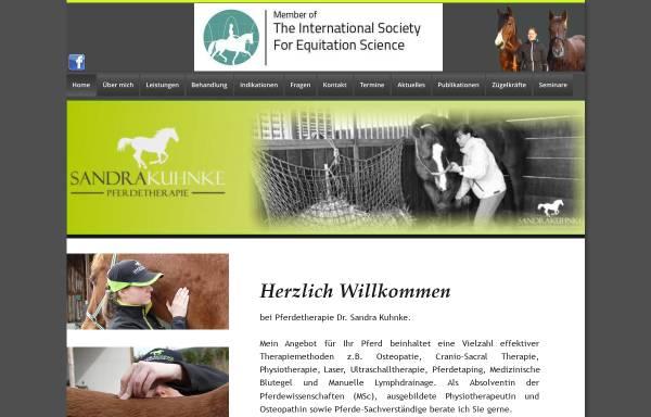 Vorschau von www.pferdetherapie-kuhnke.de, Pferdetherapie Sandra Kuhnke