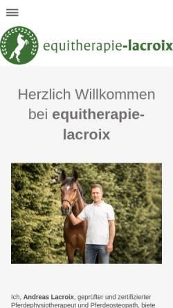 Vorschau der mobilen Webseite equitherapie-lacroix.de, Equitherapie Lacroix