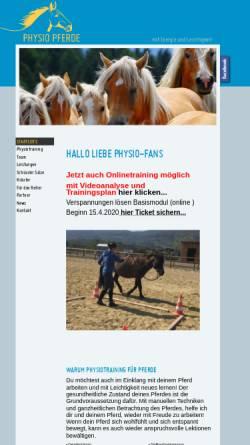 Vorschau der mobilen Webseite www.physio-pferde.at, Physio Pferde Verena Bachmann