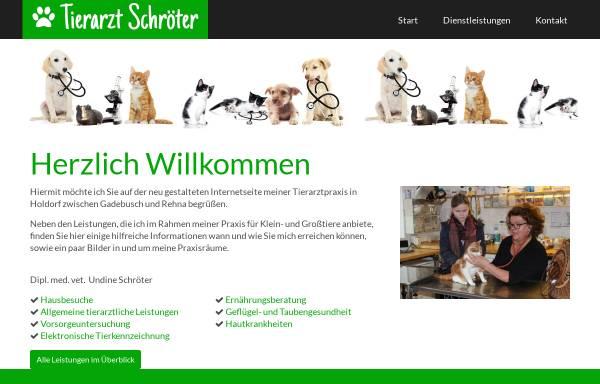 Vorschau von www.tierarzt-schroeter.de, Tierarztpraxis Schröter