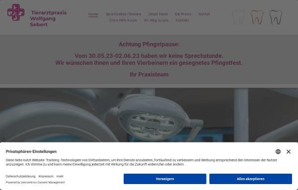 Vorschau von tierarztpraxis-sebert.de, Tierarztpraxis Sebert