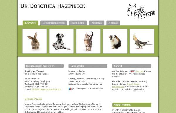 Vorschau von www.kleintierpraxis-stellingen.de, Kleintierpraxis Stellingen - Tierarzt Dr. Dorothea Hagenbeck