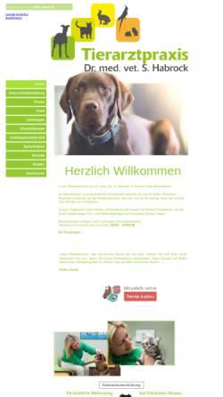 Vorschau der mobilen Webseite www.tierarztpraxis-habrock.de, Dr. med. vet. Silke Habrock