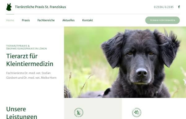 Vorschau von www.xn--tierarzt-lnen-5ob.de, Tierärztliche Praxis St. Franziskus, Dr. med. vet. Stefan Giesbert
